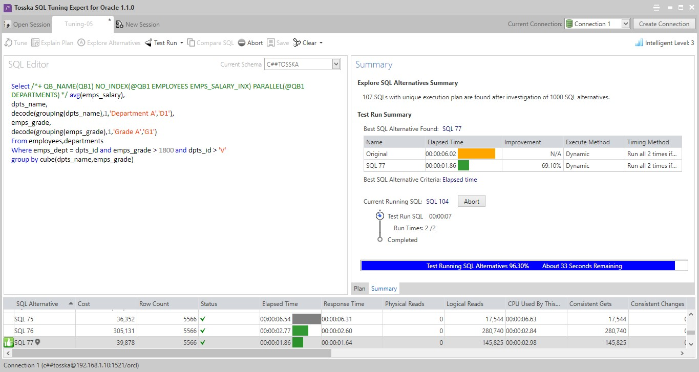 Tosska SQL Tuning Expert for Oracle