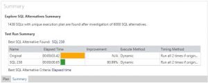 SQL Tuning Expert Test Run Summary